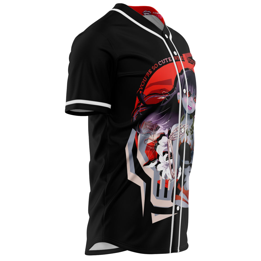Ahmya unisex baseball jersey t-shirt w/stripes