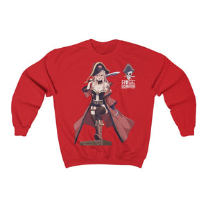 Rose The pirate anime girl Unisex Sweatshirt