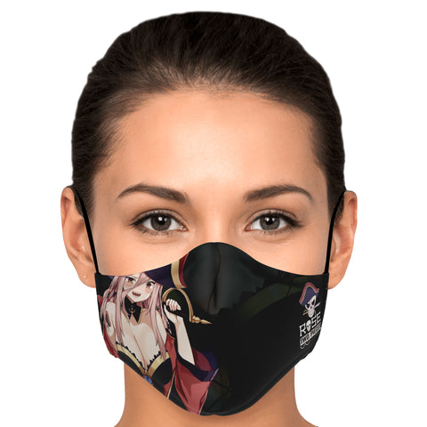 Rose Pirate captain anime girl Face Mask