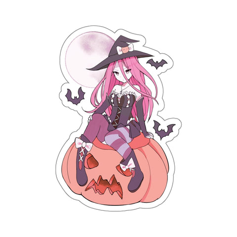 Yuuki Kawaii Witch Cute Anime Girl Kiss-Cut Stickers