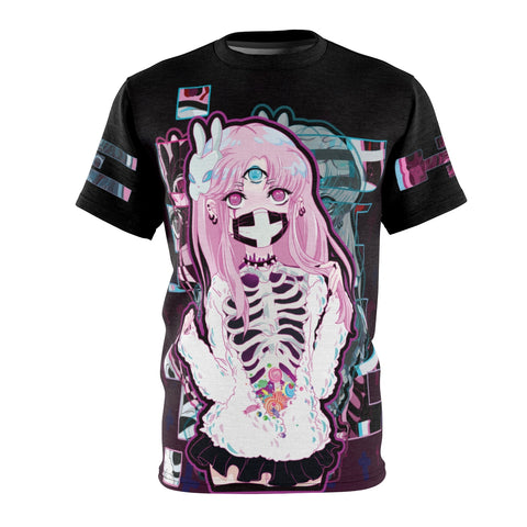 Black kawaii creepy cute pastel goth kowaii anime shirt manga t-shirt
