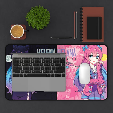 Image of Helena and Helana - The anime vampire twins Large Mouse Pad Desk Mat