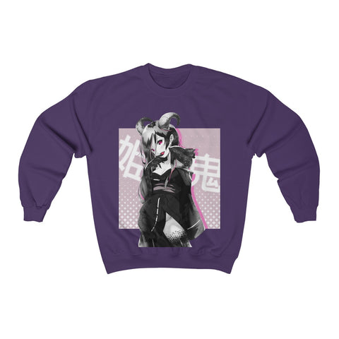 Image of Oni-Hime B&W 1.2 Hentai Demon Kawaii Anime Girl Sweatshirt