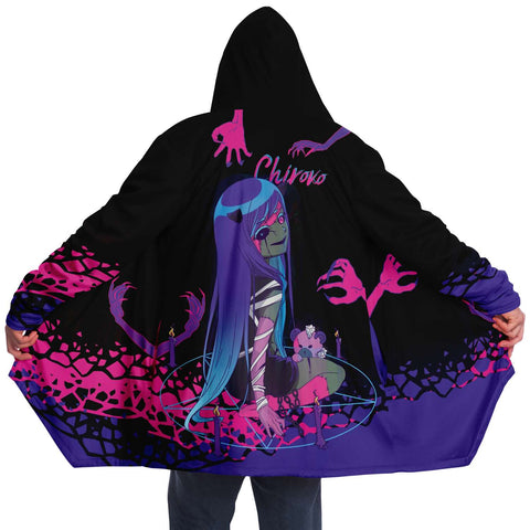 Image of Chiroko Necromancer anime girl Cloak