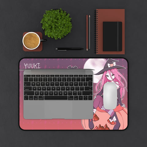 Yuuki - anime witch girl Large Mouse Pad Desk Mat
