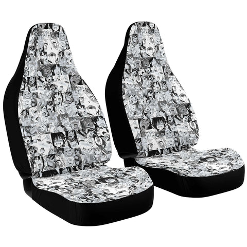 Sexy Ahegao Hentai Faces Anime Car Seat Cover (x2)