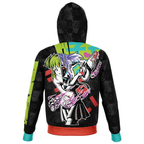 Image of Kandi Cute Yandere Anime Girl Unisex AOP Zip Hoodie
