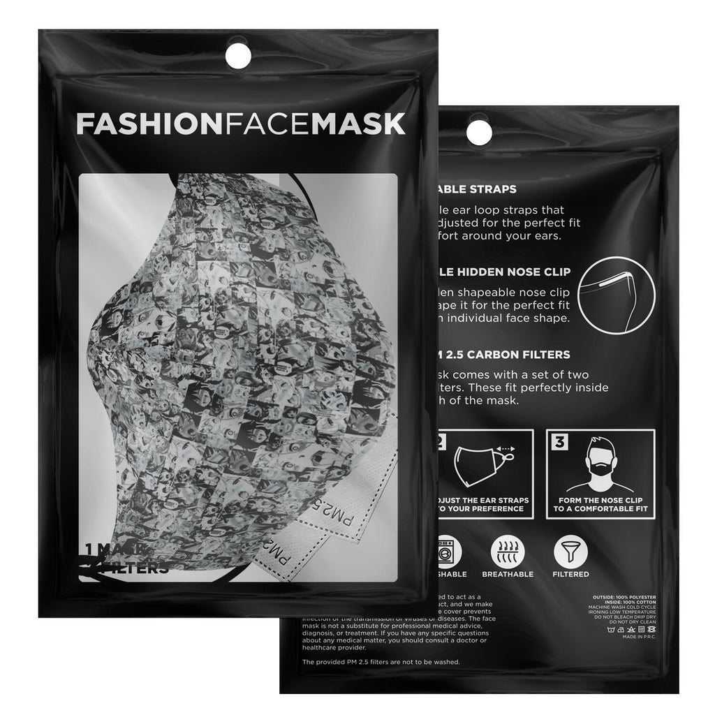 Ahegao Camouflage Anime Face Mask