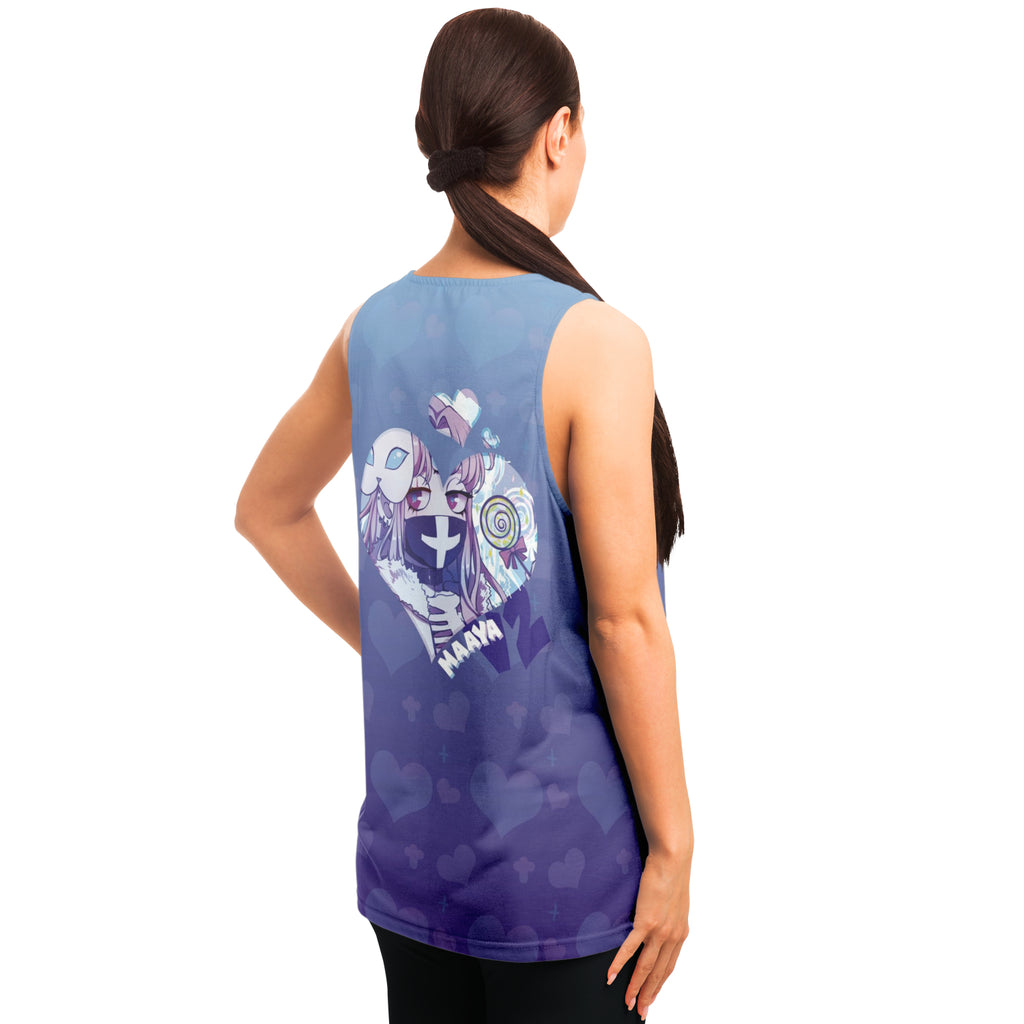 Maaya V2 Creepy Cute Anime Girl AOP tank top