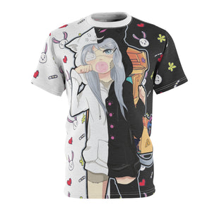 Aahra Cute lazy anime girl Unisex AOP Cut & Sew T-shirt
