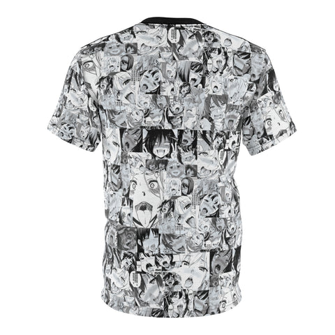 Sexy Ahegao Hentai Faces Unisex AOP Cut & Sew Tee