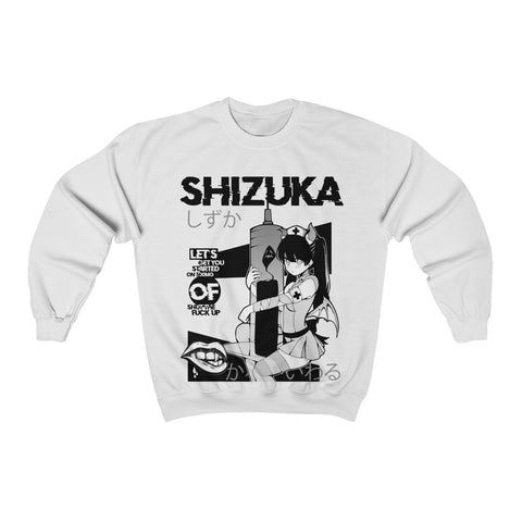 Image of Shizuka B&W Kawaii Anime Nurse - Creepy Cute - Sweatshirt