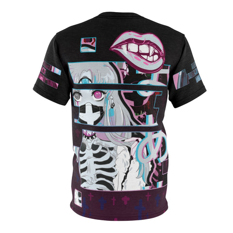 Image of Black kawaii creepy cute pastel goth kowaii anime shirt manga t-shirt