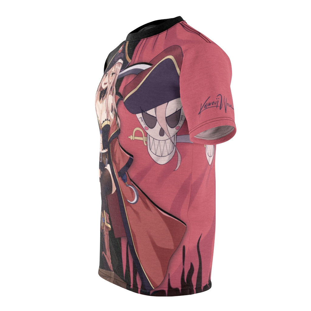 Rose The pirate anime girl Unisex AOP Cut & Sew T-shirt