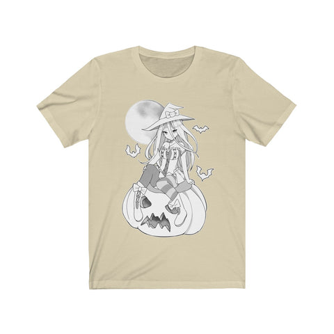 Yuuki B&W Kawaii Witch Cute Anime Girl Unisex T-shirt