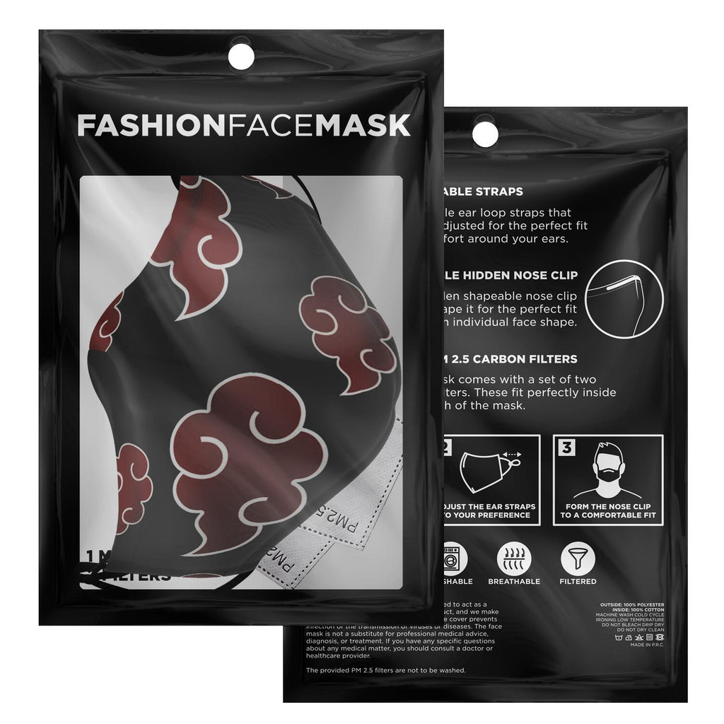 Akatsuki Anime Face Mask (requested)