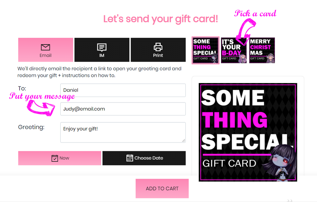 Kawaiiwaru Gift card