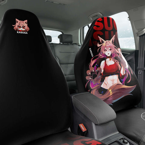 Image of Kasuga werewolf anime girl Car seat Cover (x2)