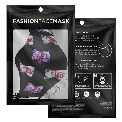 Image of Kiyomi Black Teddy Bear Anime Face Mask