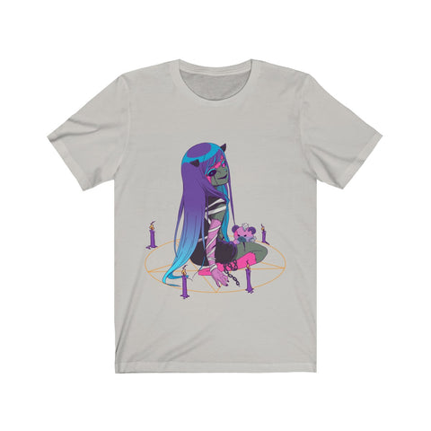 Image of Chiroko Kawaii Creepy Cute Demon Anime Girl Unisex T-shirt