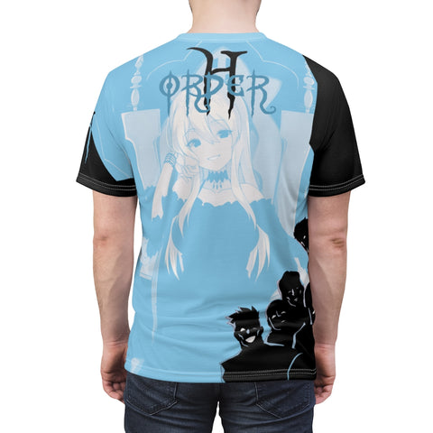 Image of Hikari Sama anime girl Unisex AOP Cut & Sew T-shirt