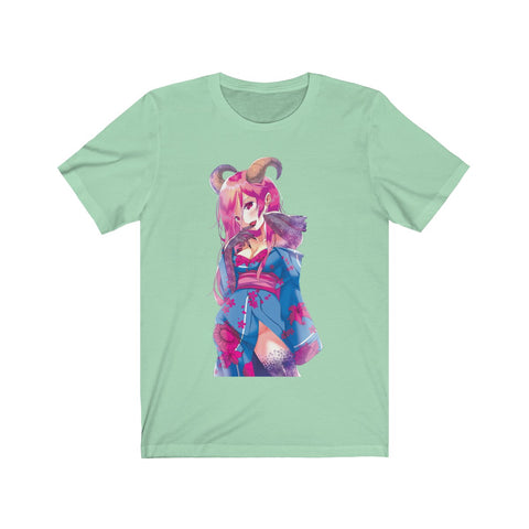 Image of Oni-Hime Hentai Demon Kawaii Anime Girl Unisex T-shirt