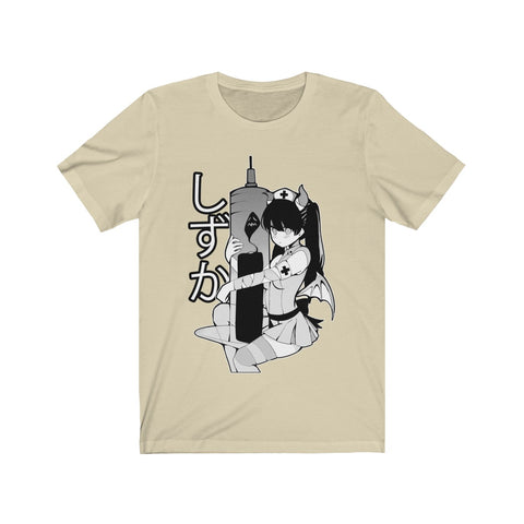 Image of Shizuka B&W V2 Kawaii Anime Nurse - Creepy Cute - Unisex T-shirt