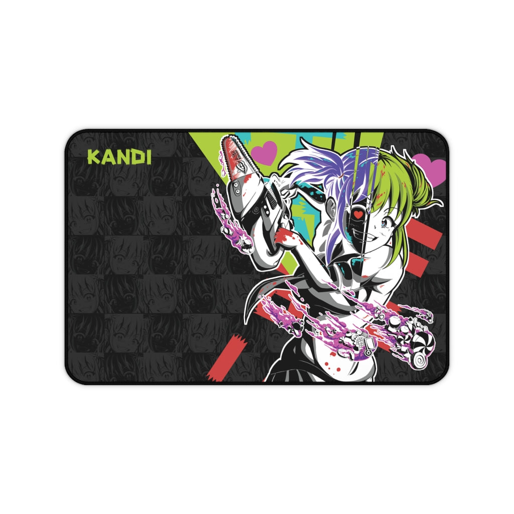 Kandi - Cute yandere anime girl Large Mouse Pad Desk Mat