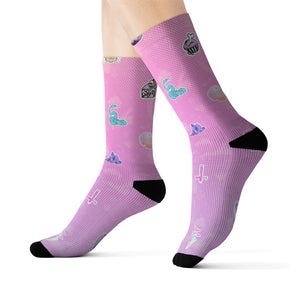 Pastelgoth Stickers Sublimation Socks