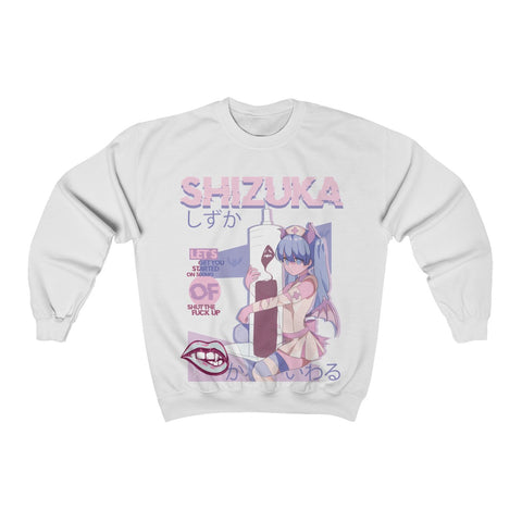 Image of Shizuka Kawaii Anime Nurse - Creepy Cute - Sweatshirt