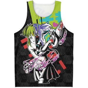 Kandi Cute Yandere Anime Girl AOP Tank Top