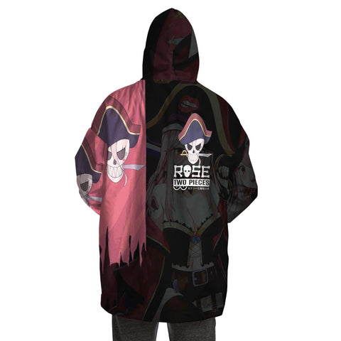 Rose Pirate captain anime girl Snug Hoodie