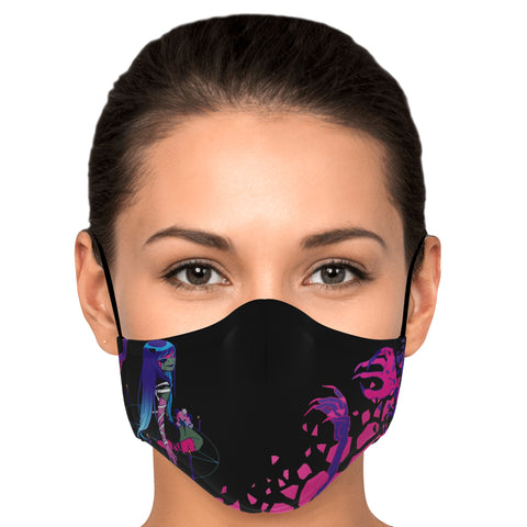 Chiroko Necromancer anime girl Face Mask