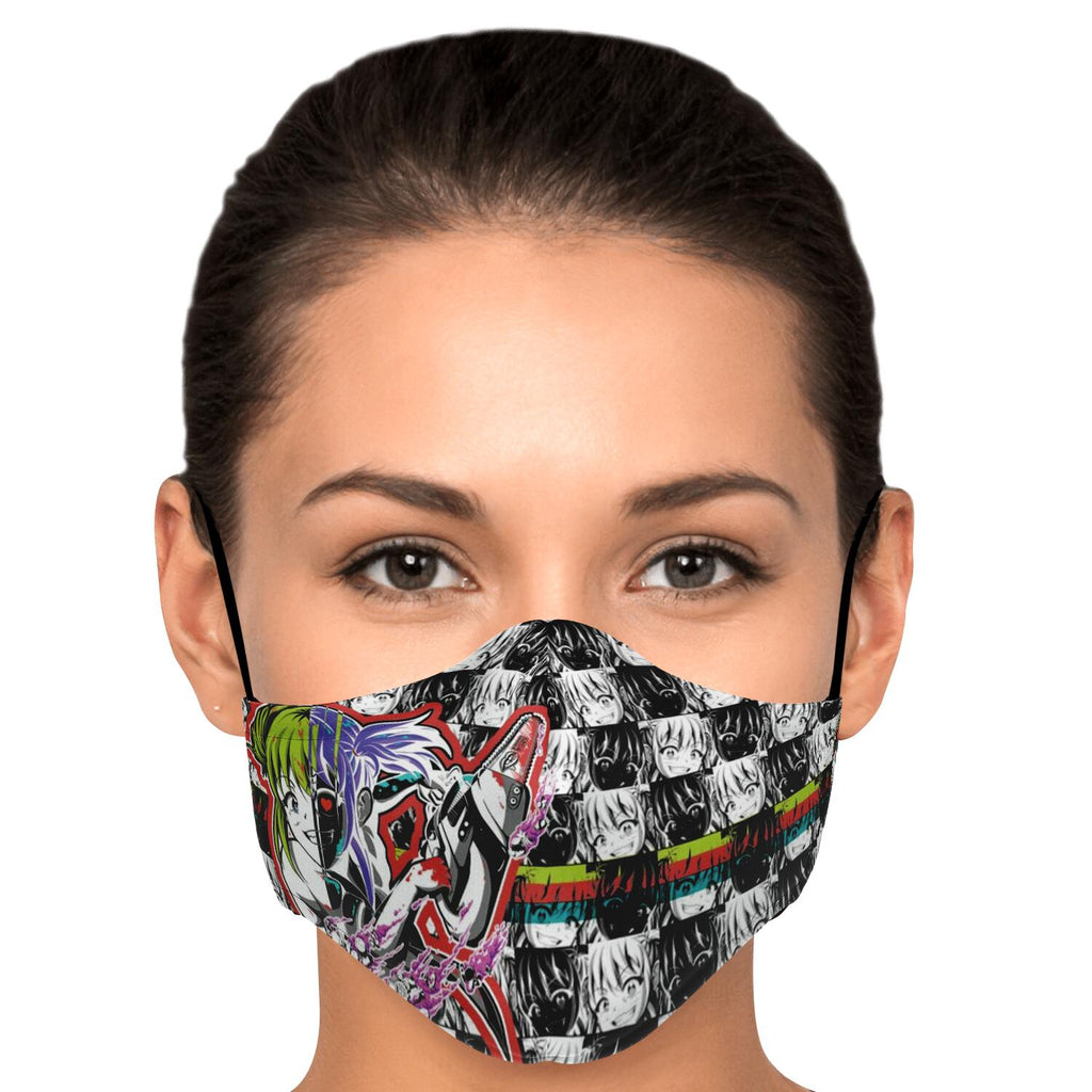 Kandi Cute Yandere Anime Girl Face Mask