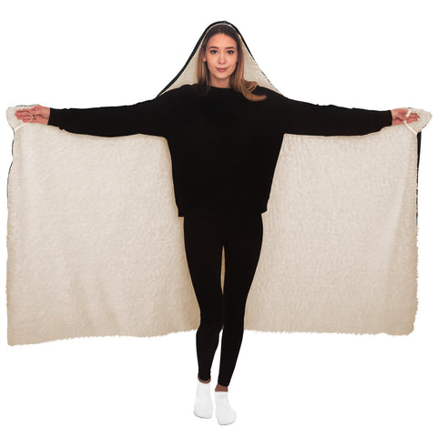 Image of Chiroko White Hooded Blanket