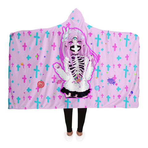 Maaya Creepy Cute anime Hooded Blanket