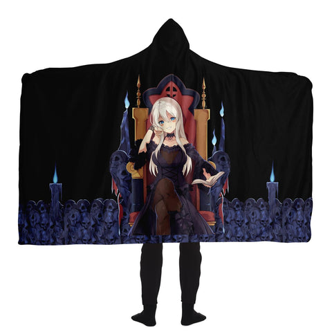 Image of Hikari Sexy Waifu Anime Girl Hooded Blanket