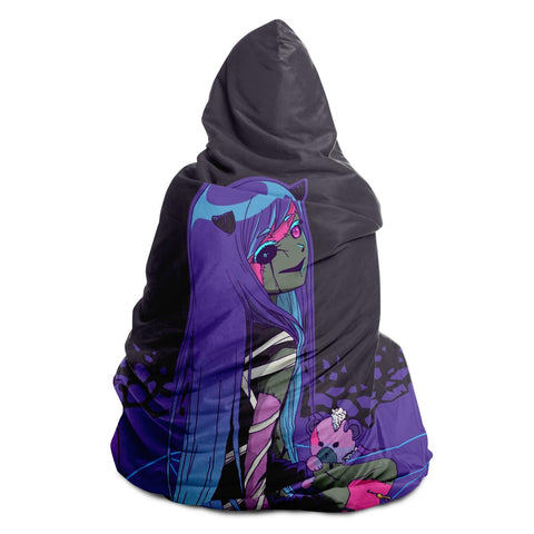 Chiroko Kawaii Creepy Cute Demon Anime Girl Hooded Blanket