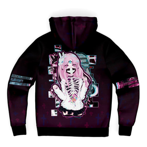 Image of Maaya XP Creepy Cute anime Sherpa Zip Hoodie