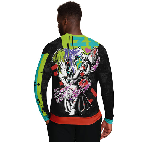 Image of Kandi Cute Yandere Anime Girl Unisex AOP Sweatshirt