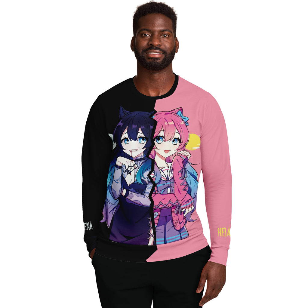 Helena and Helana Kawaii anime girl Vampire Twins AOP Sweatshirt