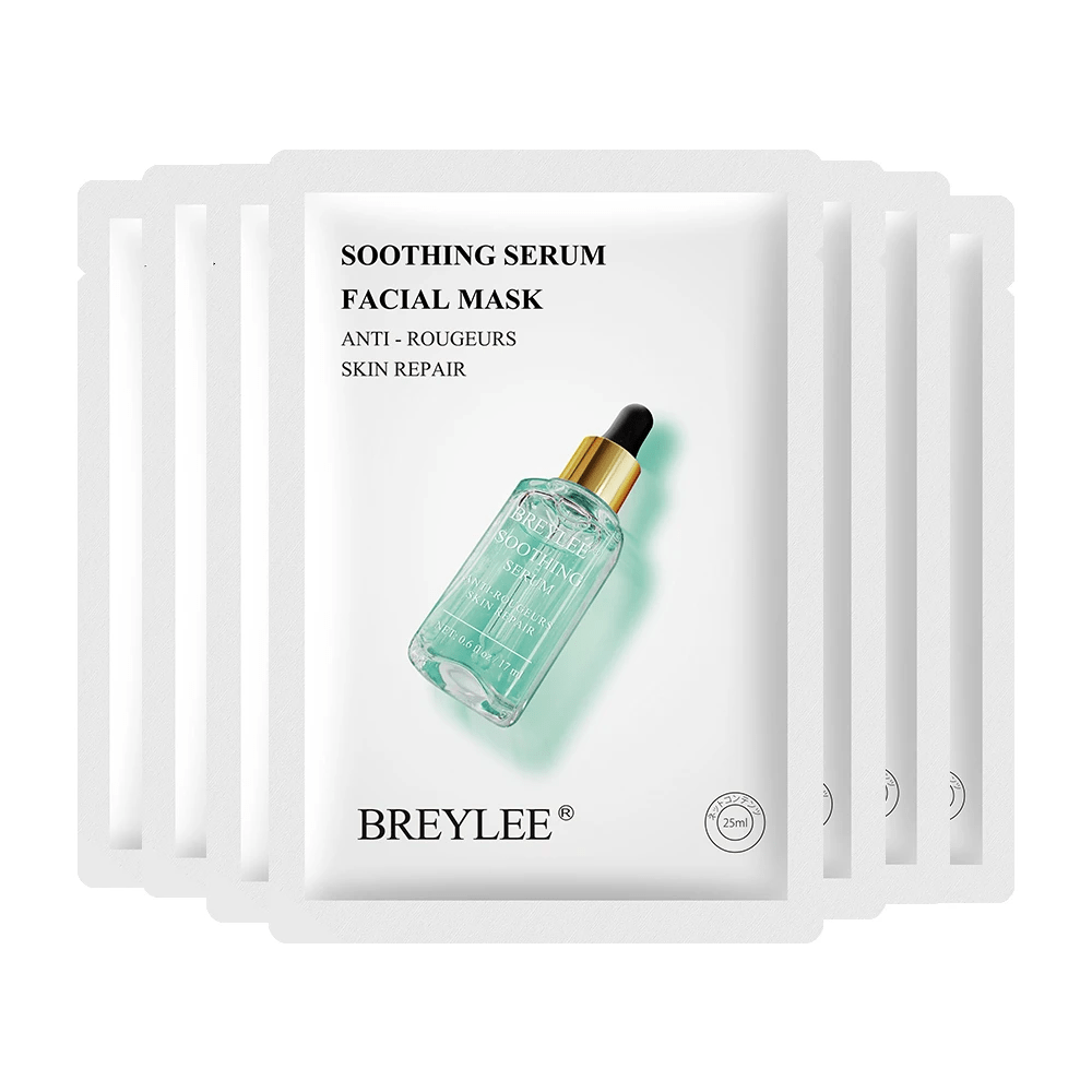BREYLEE Chamomile Soothing Serum Face Mask (Pack of 8) Cosmetics