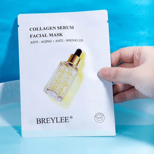 BREYLEE 24K Gold Collagen Serum Face Mask (Pack of 8) Cosmetics