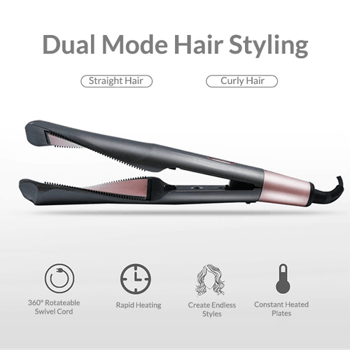 2-in-1 Tourmaline Ceramic Curling Iron & Straightener Hair Tools