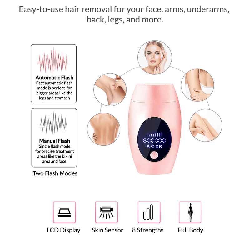 IPL Hair Removal Handset Plus Body Devices