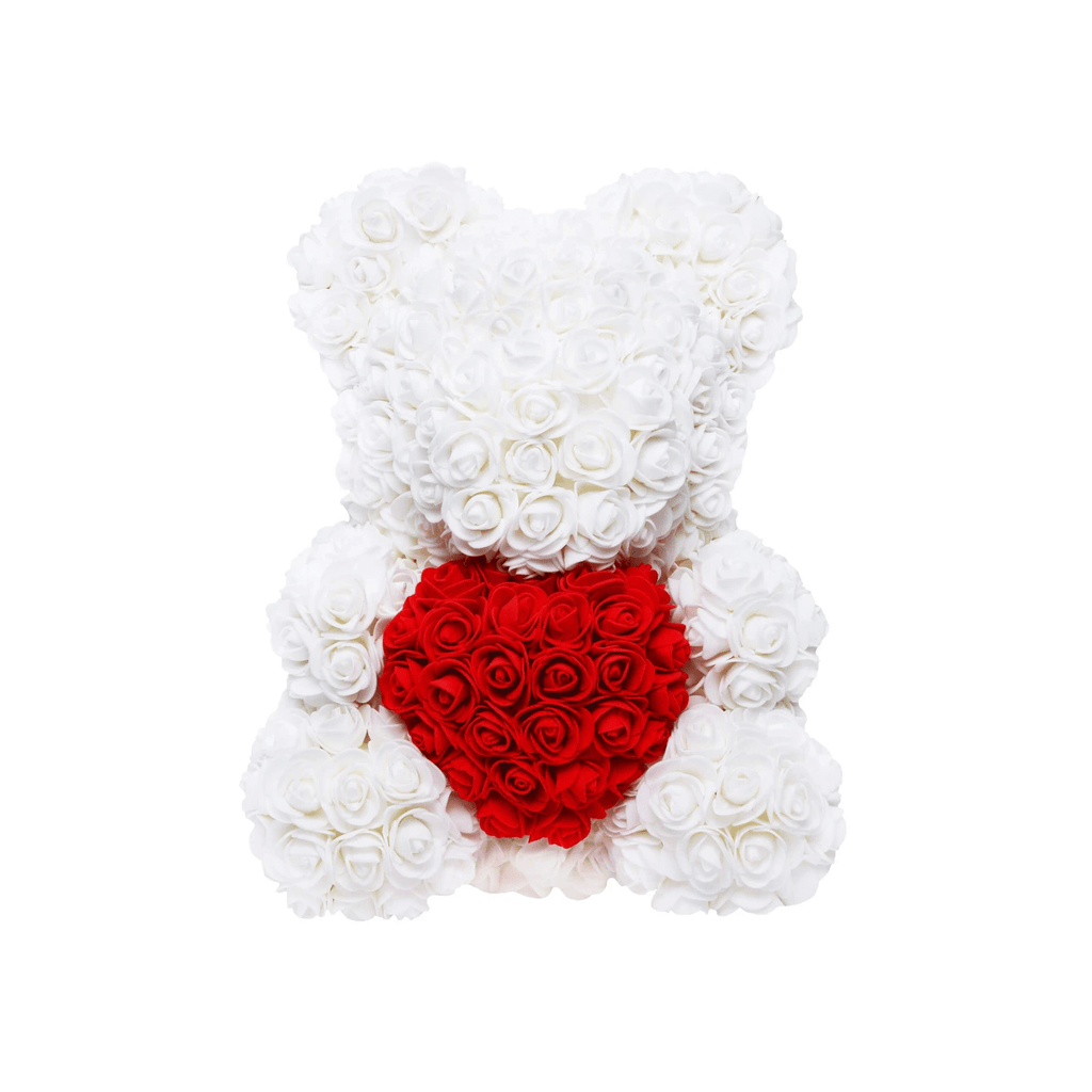 FloralBear Faux Rose Bear with Heart Home & Decor