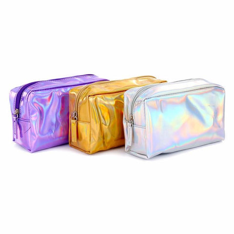 Holographic Iridescent Cosmetic Makeup Bag