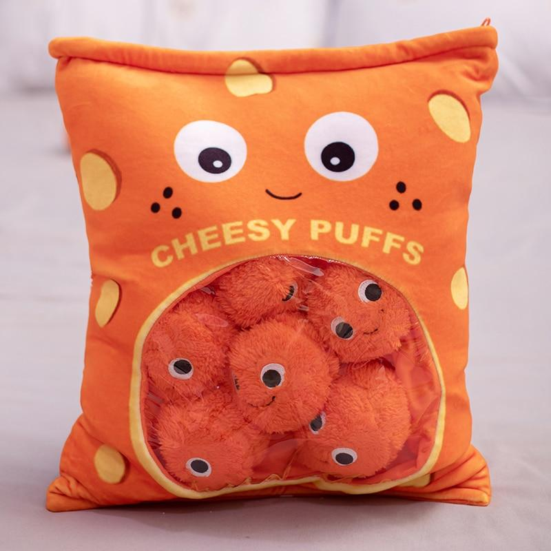 Cheesy Puffs Stuffed Pillow Home & Decor