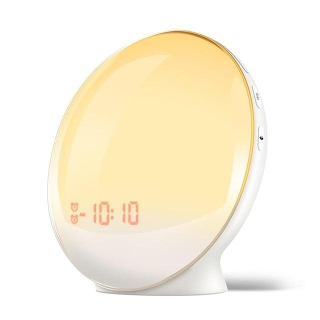 SmartSleep Digital Sunrise LED Alarm Clock Home & Decor White / EU Plug