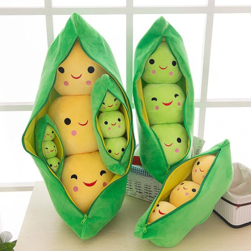 Three Peas in a Pod Stuffed Cushion Home & Decor